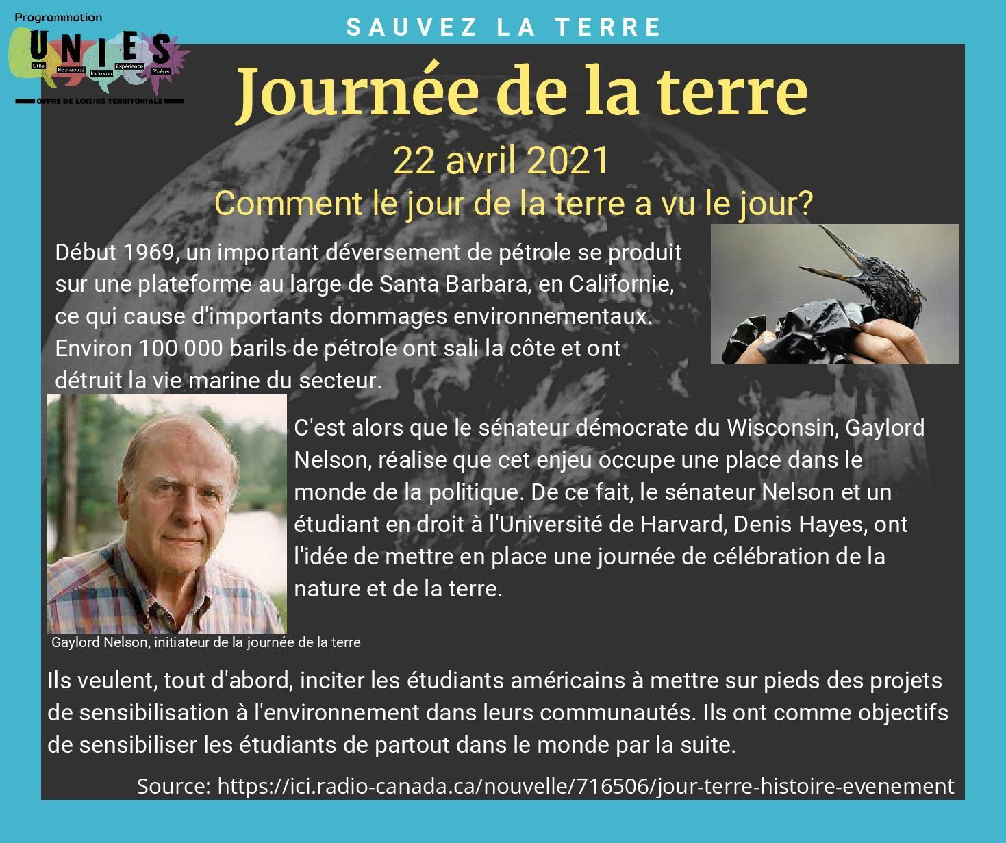 Journée de la terre (Auteur : Louise Gagnon)