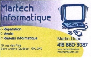 Carte affaires Martech (Photo : © Louise)