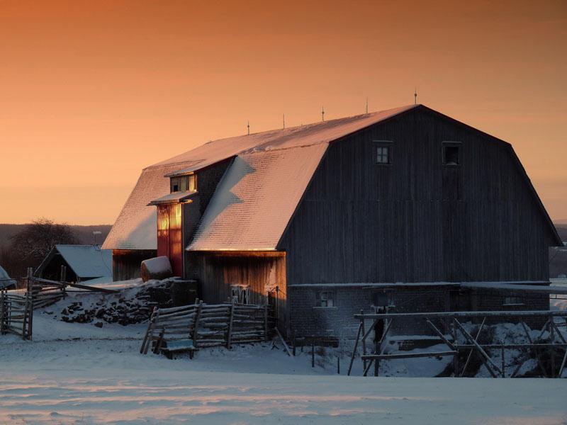Grange : Paysage de décembre (Photo : © MRC de Rivière-du-Loup)
