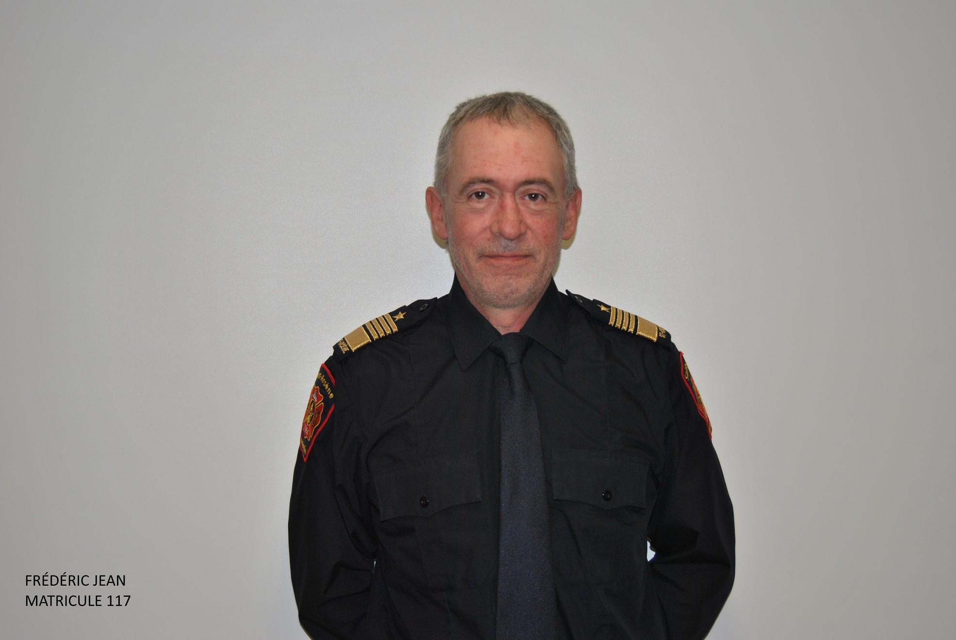 <b>Frédéric Jean</b><br />Chef pompier depuis 2004