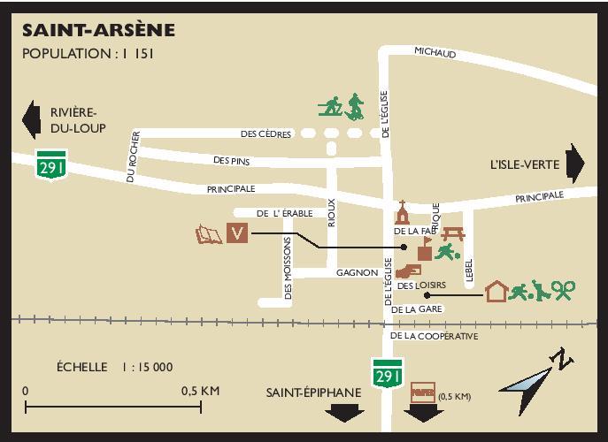 Carte Saint-Arsène (Auteur : MRC)
